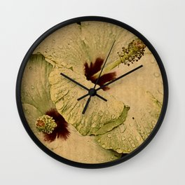 hybiscus Wall Clock