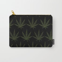 Weed Leaf Black Carry-All Pouch