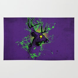 Trippy Ghost Deer Rug