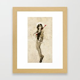 This angelic beating girl Framed Art Print