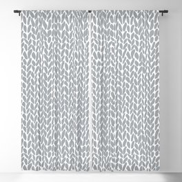 Hand Knit Zoom Grey Blackout Curtain