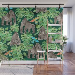 Gorillas in the Emerald Forest Wall Mural