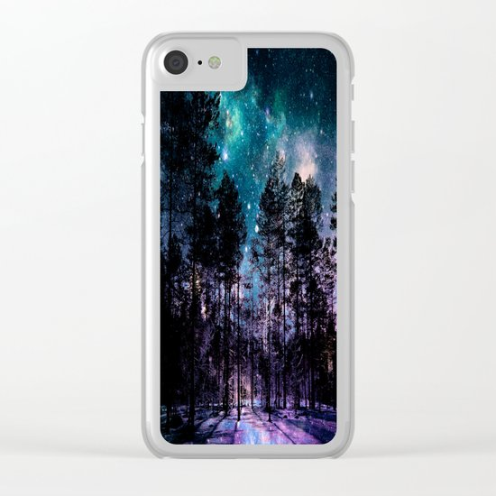 One Magical Night... (teal & purple) Clear iPhone Case
