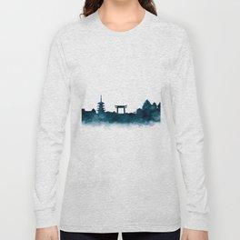 Kyoto Skyline Long Sleeve T-shirt