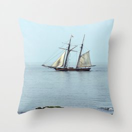 Tall ship Sails by Throw Pillow