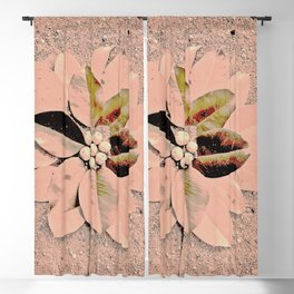 Pastel Pink Flower Blackout Curtain