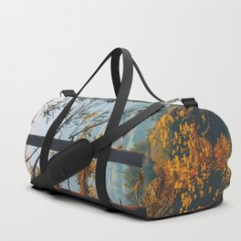 Earthscape Landscape Photography Tall Autumn Fall Trees Overlooking Fields Duffle Bag