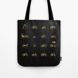 Bike Icons Tote Bag