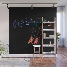 Music Swing Wall Mural