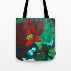 Red Flower Wreath Tote Bag