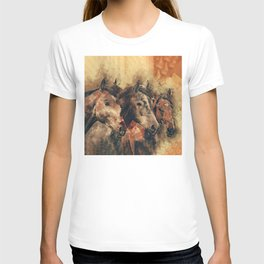 Galloping Wild Mustang Horses T-shirt