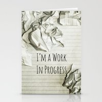 decal Stationery Cards featuring I'm A Work In Progress by Charlene McCoy