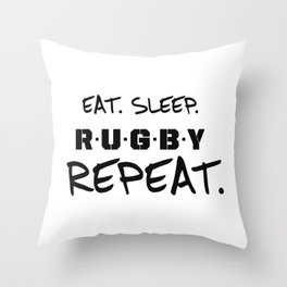 rugby lover Throw Pillow