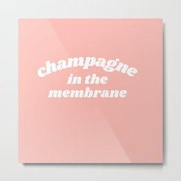 champagne Metal Print