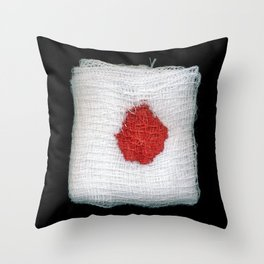 Bloodstained Gauze Throw Pillow