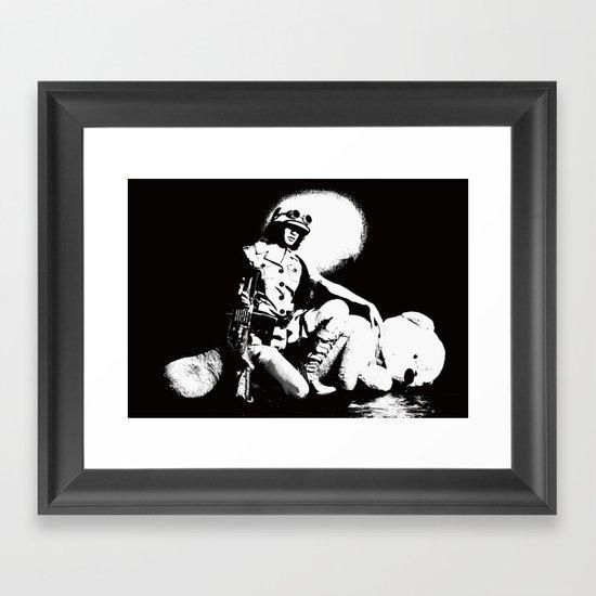 Teddy Bear Hunting Framed Art Print