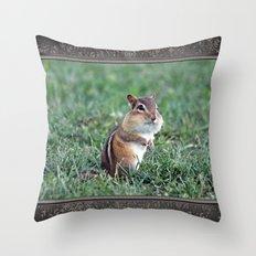 Chipmunk Throw Pillow