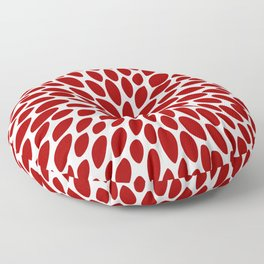 Christmas Floral Bloom, Red and White Floor Pillow