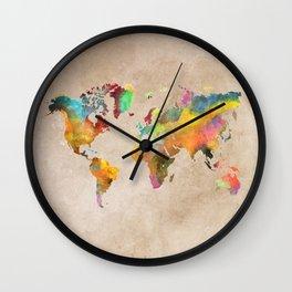 World map 1 Wall Clock