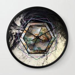 Hexagonal Renaissance Wall Clock