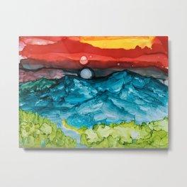 Earth Flow Metal Print