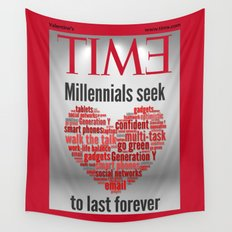 millennials seek love to last forever Wall Tapestry