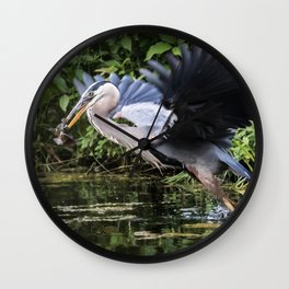 Heron Take-off Wall Clock