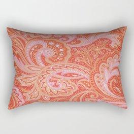 RED & PINK PAISLEY Rectangular Pillow