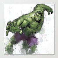hulk Canvas Prints featuring Hulk  by Isaak_Rodriguez