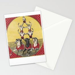 Vintage Circus Art with Acrobats Stationery Cards