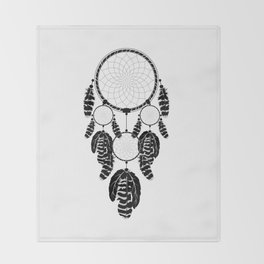 Dream catcher silhouette Throw Blanket