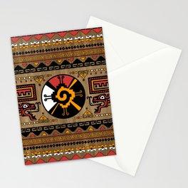 Colorful Hunab Ku Mayan symbol #5 Stationery Cards
