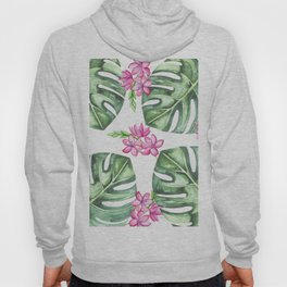 Tropical Flowers And Monstera #society6 Hoody