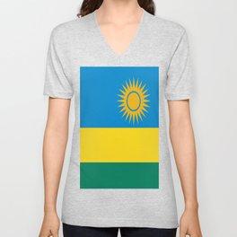 Flag of Rwanda Unisex V-Neck