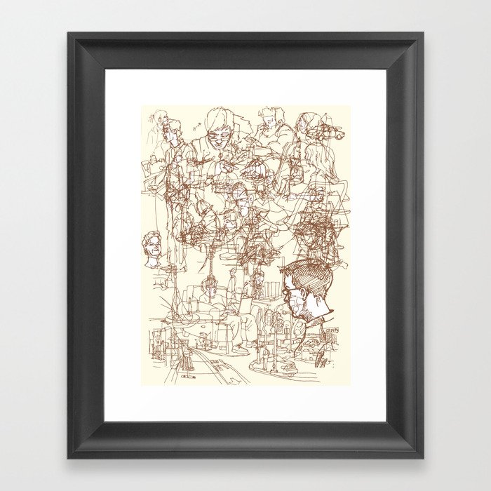 This is What We Call a Life Drawing Framed Art Print