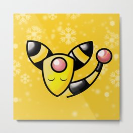Silent Night: Ampharos Metal Print