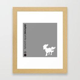 White Ponyta Framed Art Print