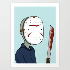 Adventure Time with Jason Voorhees Art Print