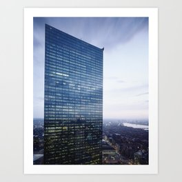 Dramatic View of Bostons John Hancock Building Art Print