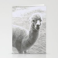 llama Stationery Cards featuring Llama by Cat In The Sorting Hat