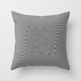moire patterns Throw Pillow