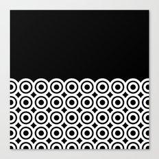 raspust (black/white) Canvas Print