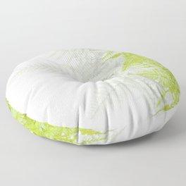 PALE GREEN & GREY ABSTRACT WOODLAND FERNS ART Floor Pillow