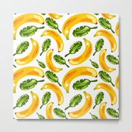 banana and leaf pattern Metal Print