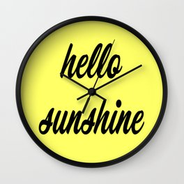 Hello Sunshine Wall Clock