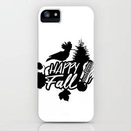 Happy Fall - Autumn Nature Theme iPhone Case