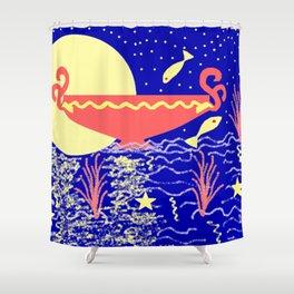 FULL MOON- (quarterly 4.3  Flipside zine) Shower Curtain