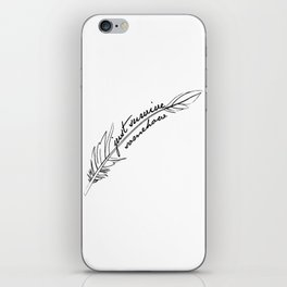 JSS feather iPhone Skin