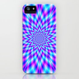 Fuzzy Star in Blue and Pink iPhone Case