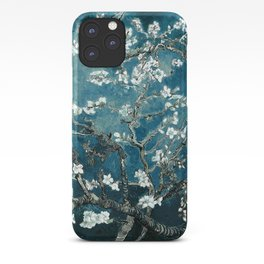 Van Gogh Almond Blossoms : Dark Teal iPhone Case